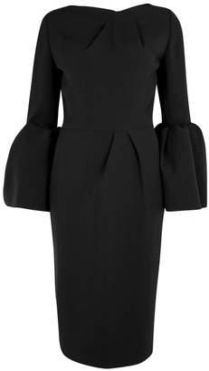 Roksanda Margot Black Bell-sleeve Crepe Dress