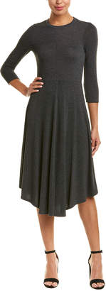 Three Dots Curved Hem Sweaterdress