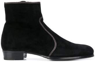 Lidfort braid trim ankle boots