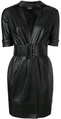 Elisabetta Franchi belted faux leather mini dress