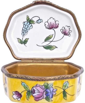 One Kings Lane Vintage Porcelain Floral Themed Limoges Box - Vermilion Designs