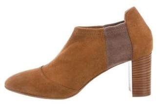 Aquatalia Suede Colorblock Ankle Booties