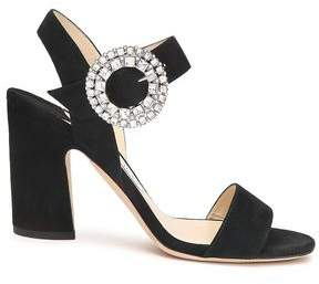 Jimmy Choo Crystal-embellished Suede Sandals