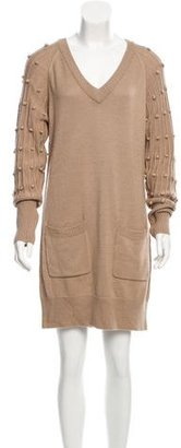 Alice by Temperley V-Neck Sweater Dress $85 thestylecure.com