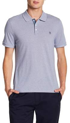 Original Penguin Short Sleeve Jacquard Feeder Polo
