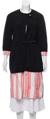 Hache Striped Lightweight Coat