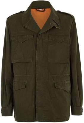Gucci Logo Military Jacket