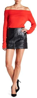Blank NYC BLANKNYC Denim Zipper Mini Skirt