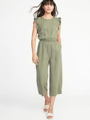Old Navy Waist-Defined Tencel® Flutter-Sleeve Jumpsuit for Women
