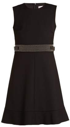 RED Valentino Stud Embellished Sleeveless Cady Dress - Womens - Black