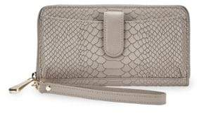 GiGi New York City Phone Python Leather Wallet