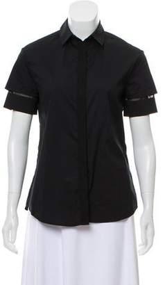 AllSaints Point Collar Button-Up Top