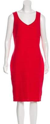 St. John Sleeveless Sheath Dress