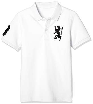 Giordano (ジョルダーノ) - (ジョルダーノ) GIORDANO 3Dライオン刺繍ポロシャツ GD18SS-03018302 091 ホワイト 120