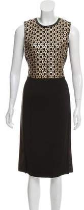 Reed Krakoff Sleeveless Leather-Trimmed Dress w/ Tags