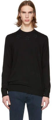 Givenchy Black Wool Star Sweater