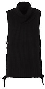 Autumn Cashmere Lace-Up Gilet: Black $368 thestylecure.com