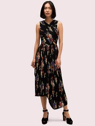 Kate Spade Rare Roses Pleated Dress, Black - Size 0