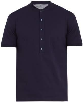 Brunello Cucinelli Henley cotton-jersey T-shirt