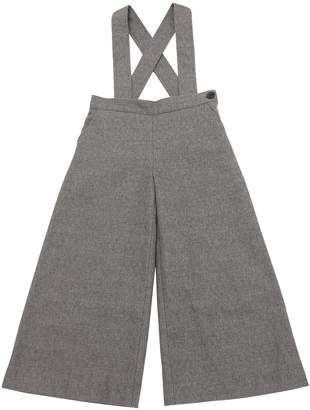 Cotton Felt Pants W/ Suspenders