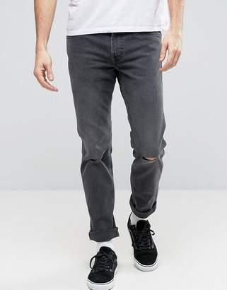 Levi's Levis Line 8 Slim Jeans In Mid Grey Destruction