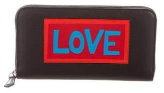 Fendi 2017 Love Leather Zip Wallet
