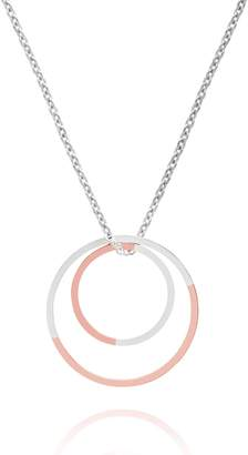 Myia Bonner 9k Rose Gold & Silver Double Circle Necklace