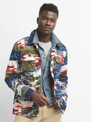 Gap Limited Edition Embroidered Camo Field Jacket