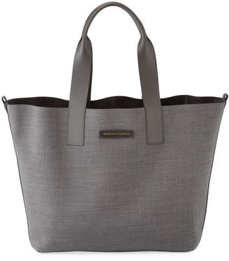 Brunello Cucinelli Reversible Large Wool Tote Bag
