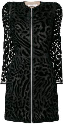 Givenchy leopard print zipped dress