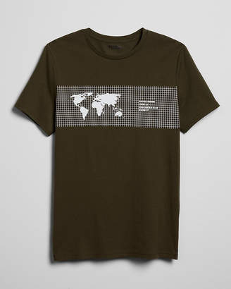 Express Linear Geography Grid Graphic Tee