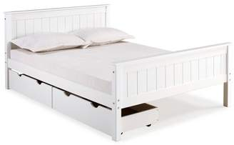 Alaterre Furniture Harmony Wood Platfrom Bed With Storage Drawers
