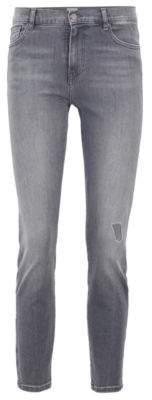 BOSS Slim-fit jeans in grey power-stretch denim