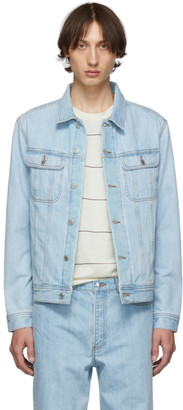 A.P.C. Indigo Denim Quilt Jacket