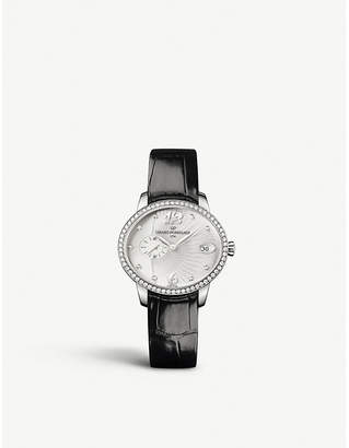 Girard Perregaux Girard-Perregaux GP03300-0126 stainless steel, alligator and diamond watch