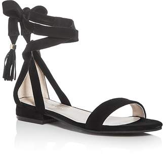 Kenneth Cole Valen Suede Ankle Wrap Sandals $110 thestylecure.com