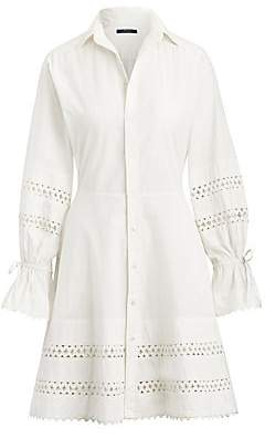Polo Ralph Lauren Women's Jasper Long-Sleeve Lace Eyelet Shirtdress