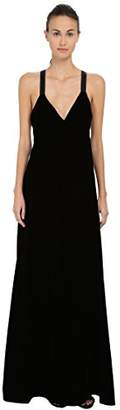 Vera Wang Women's Plunging V-Neck Gown