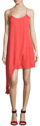 Haute Hippie The Laurel Canyon Asymmetric Mini Dress, Pink