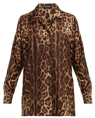 Dolce & Gabbana Leopard Print Silk Shirt - Womens - Leopard