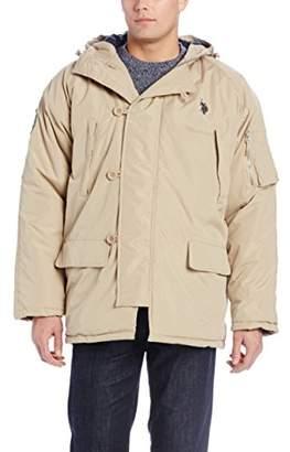 U.S. Polo Assn. Men's Long Snorkel Jacket with Hood