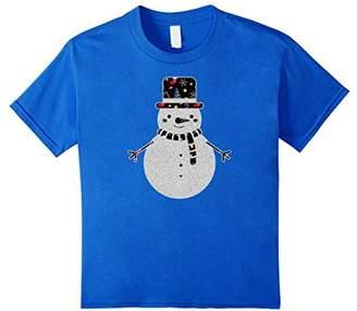 Snowman In Christmas Theme T-shirt Cozy Season