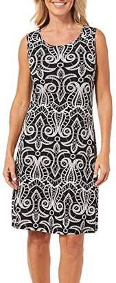 Ronni Nicole Women's Sleevless Scroll Print Textured Sheath Dress