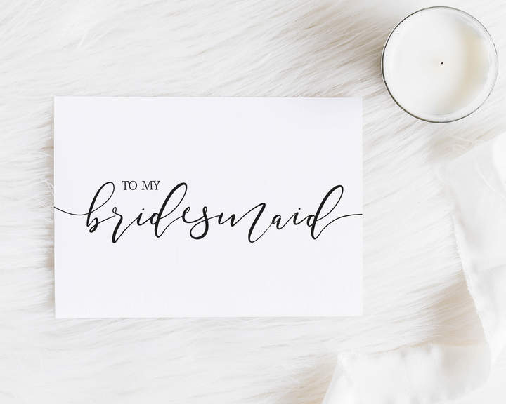 Etsy To my Bridesmaid - Wedding Card - Gift for Her - Bridesmaid Notecard - Maid of Honour - Bridesmaid P