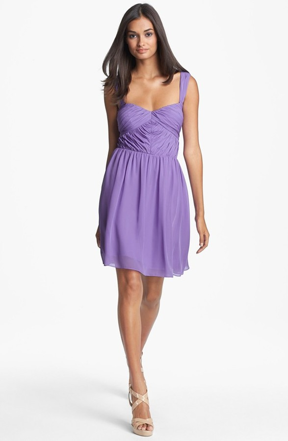Adrianna Papell Sweetheart Fit & Flare Dress