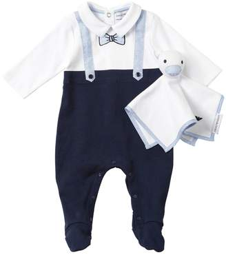 Emporio Armani Cotton & Linen Romper W/ Soft Toy