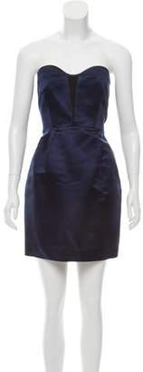 Rag & Bone Satin Strapless Dress