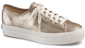 Keds Triple Kick Metallic Suede Platform Sneakers