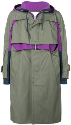 Sacai layered trench coat