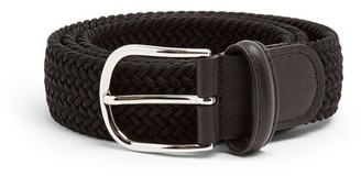 Andersons Anderson's - Woven Solid Belt - Mens - Black